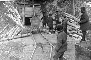 GULAG. Forced Labor Camp. Magadan region. Photo by Russian NKVD.