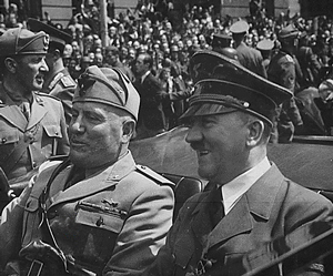 Hitler and Mussolini.